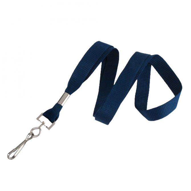 синя връзка с метална кука